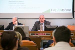 Da sinistra, Carlo Antonio Pescetti, consigliere delegato fondazione Sodalitas e Daniele Tranchini, amministratore delegato La Fabbrica
